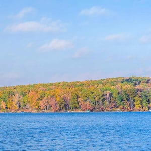 fall foliage at our Deep Creek Lake Bed and Breakfast in Maryland
