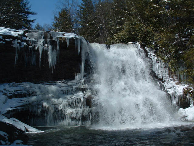 Swallow Falls State Park During the Winter